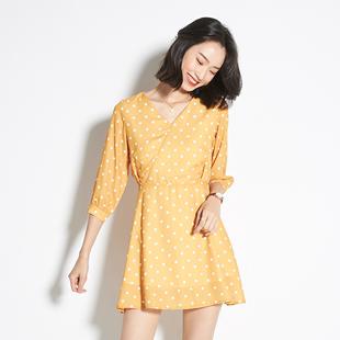 阿cir雪紡連衣裙子女夏季2020新款甜美小清新仙女ins氣質長裙超仙