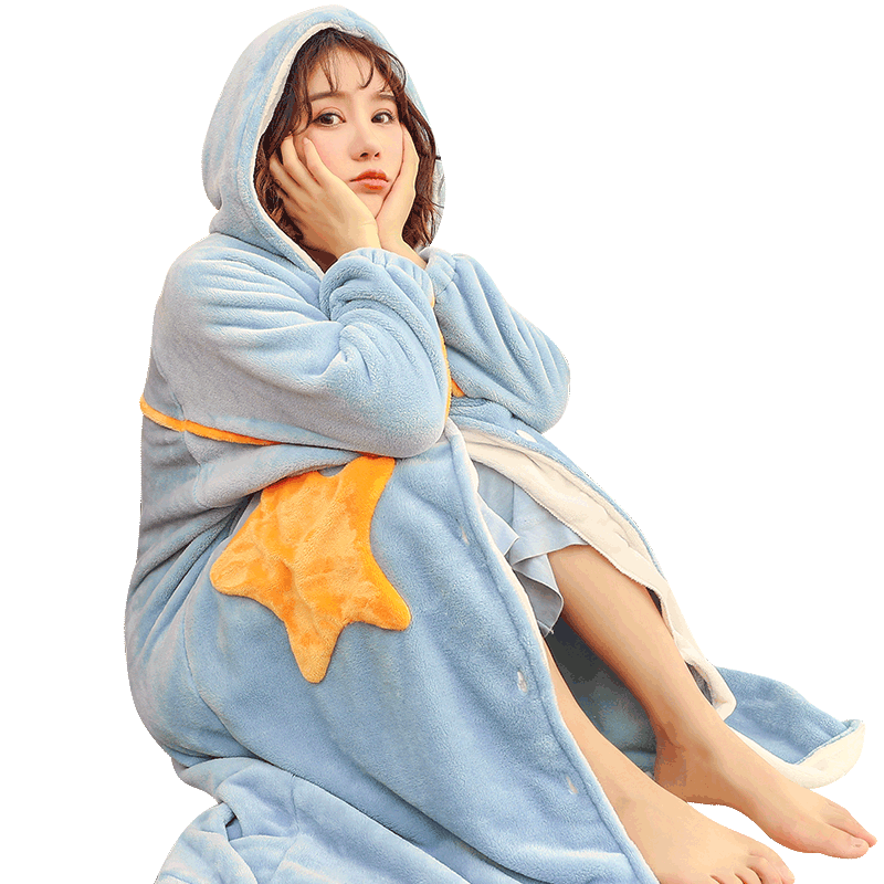 睡衣女长袖秋冬珊瑚绒韩版