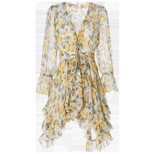 智燻裙法式桔梗裙心機連衣裙仙女裙chic温柔小個子超仙森系高腰