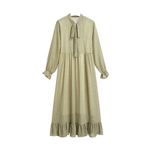 大码孕妇装秋装上衣波点长袖衬衫裙