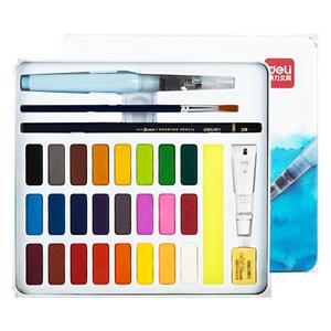 得力固体颜料水粉套装学生用画画