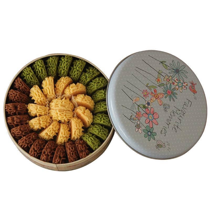 爱甜品礼品牛油小花曲奇饼干礼盒装
