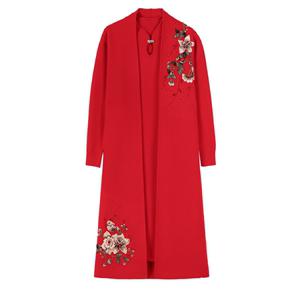 领【10元券】购买中年女士秋冬连衣裙两件套40岁毛衣