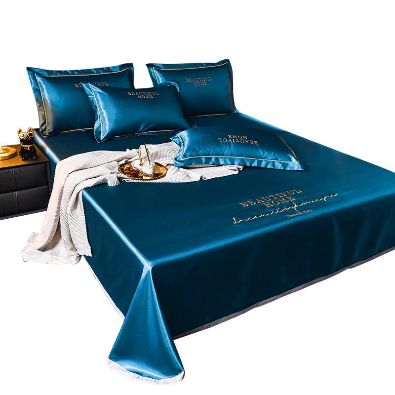 夏季冰丝凉席三件套可水洗可折叠单双人1.8m床1.5米m夏天软床席子