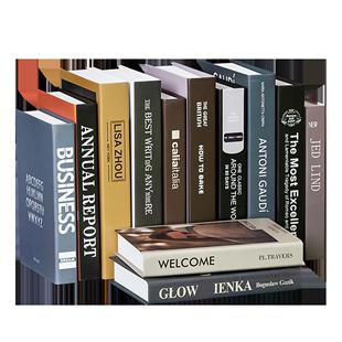 北歐簡約假書擺件客廳書房書架卧室仿真書擺設道具書模型創意擺設