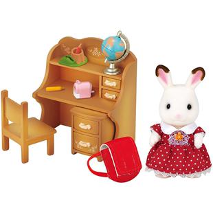 日本森貝兒家族玩具森林家族巧克力兔妹妹傢俱套裝女孩過家家玩偶