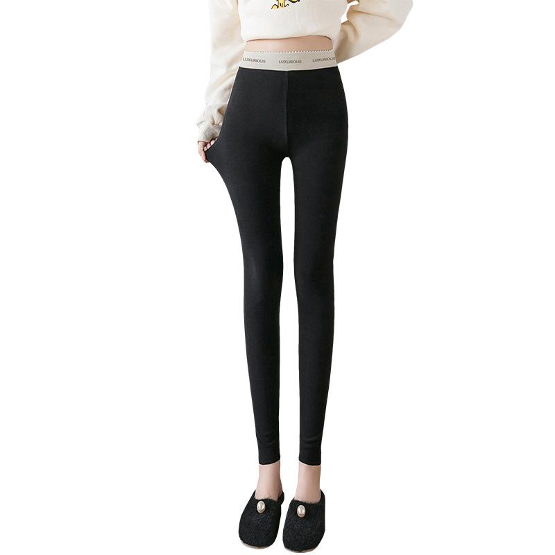 高端定制高档阳离子打底裤女士弹力加肥胖大码小脚裤2020春季新款