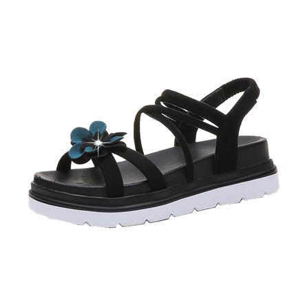凉鞋2019新款夏季绒面平底运动女鞋