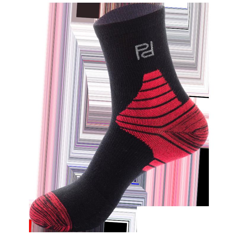 品答运动袜男女专业健身跑步袜子纯棉中筒