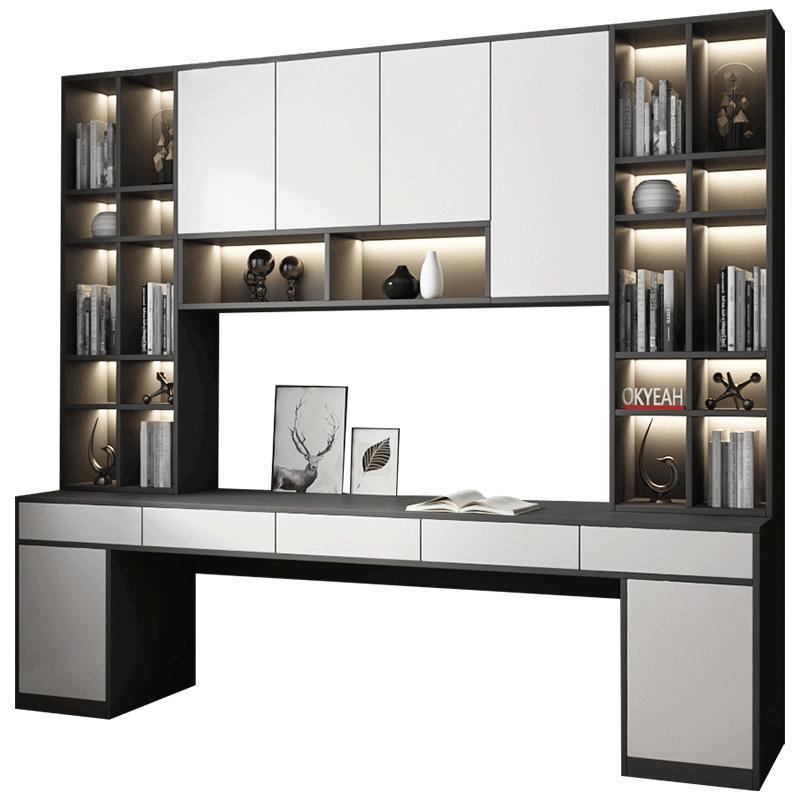 学习桌组合书架一体台式家用工作台怎么样
