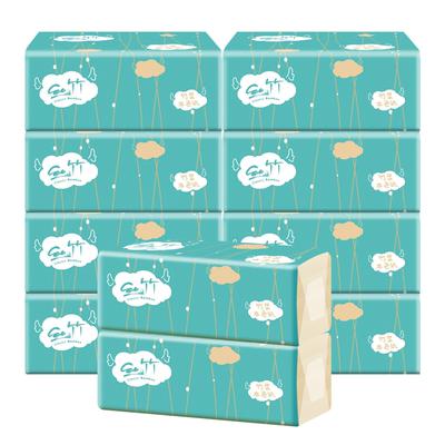 佳益本色抽纸家用卫生纸巾批发整箱婴儿面巾纸餐巾纸家庭装10包