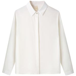 免烫职业女春长袖抗皱设计感白衬衫