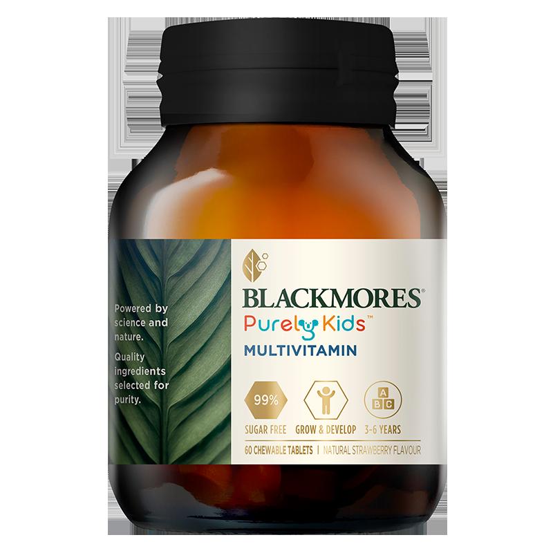 BLACKMORES澳佳宝儿童复合多种维生素片补充18种营养无糖咀嚼60片