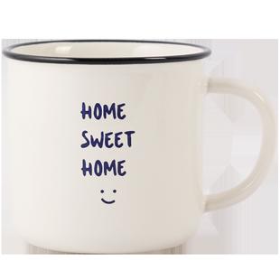 藍蓮花家居創意北歐簡約smiletoday馬克杯家用飲水杯辦公室茶杯