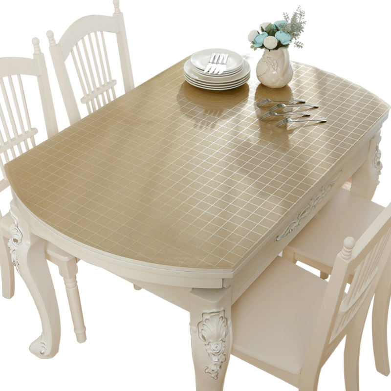 简约pvc椭圆形防水伸缩折叠餐桌布使用评测分享