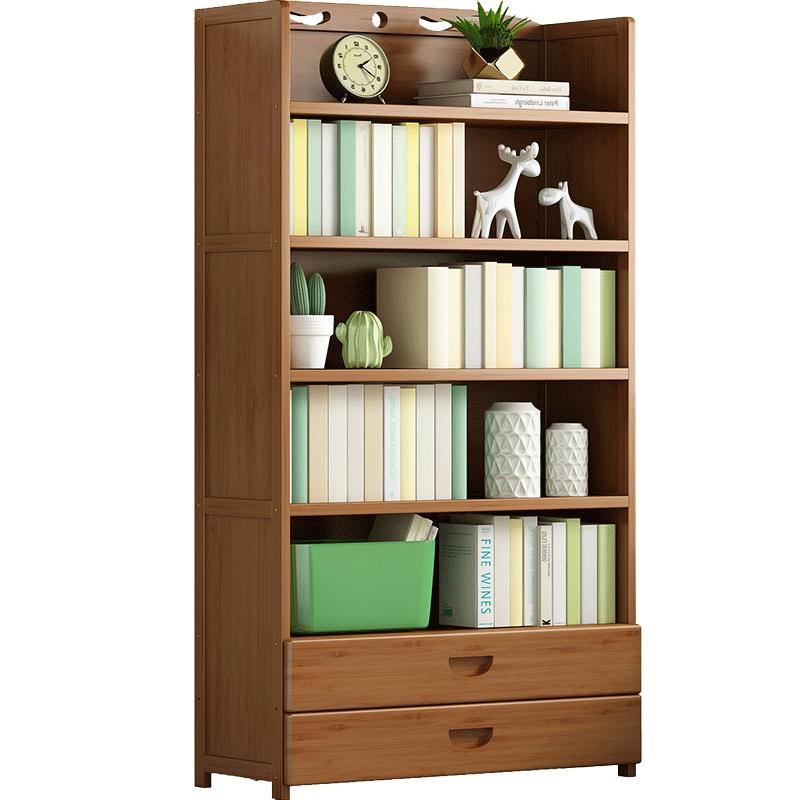 书架置物架落地简易实木书柜子家用儿童桌上收纳架多层省空间学生