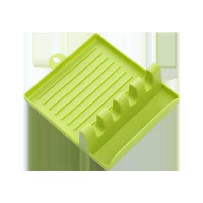 厨房用品锅铲架托多功能家用放锅盖筷子的置物架铲子收纳架汤勺垫