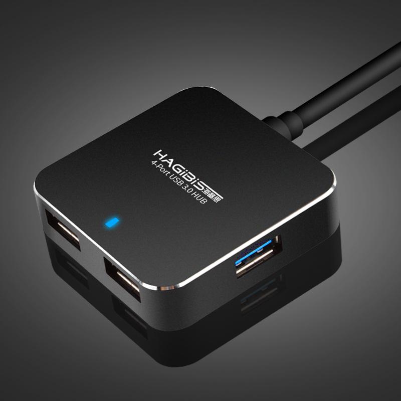 海备思USB分线器3.0一拖四集线器HUB扩展多头多孔多接口电脑转换