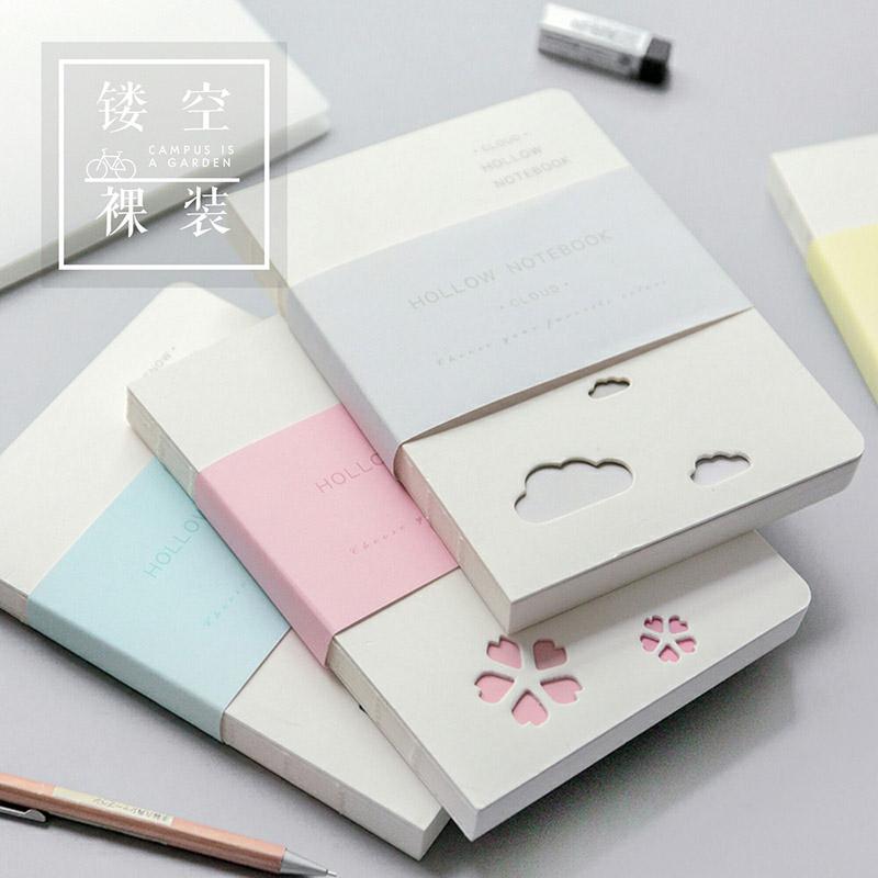三年二班 镂空裸装本Z学生笔记本文具小清新手帐本日记记事本子