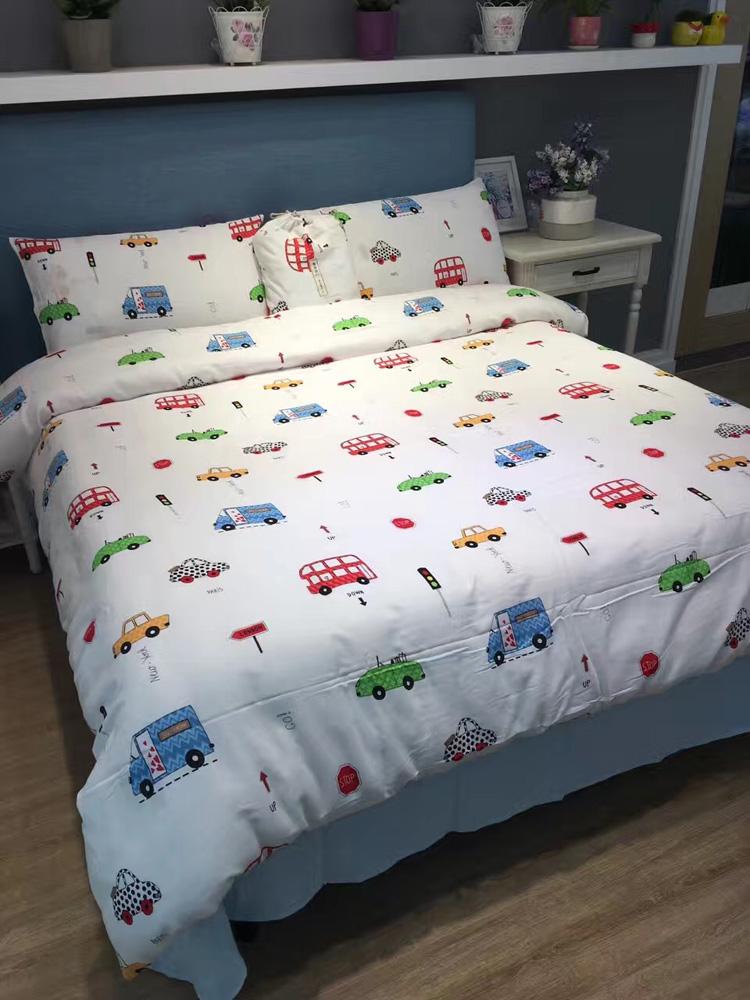 出口日式全棉婴儿级纱布床品纯棉裸睡床品透气水洗双层纱四件套