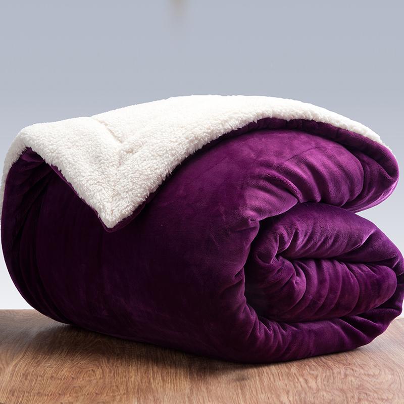 三层毛毯加厚双层被子出口珊瑚绒毯被冬季盖毯子仿羊羔绒毛毯双人