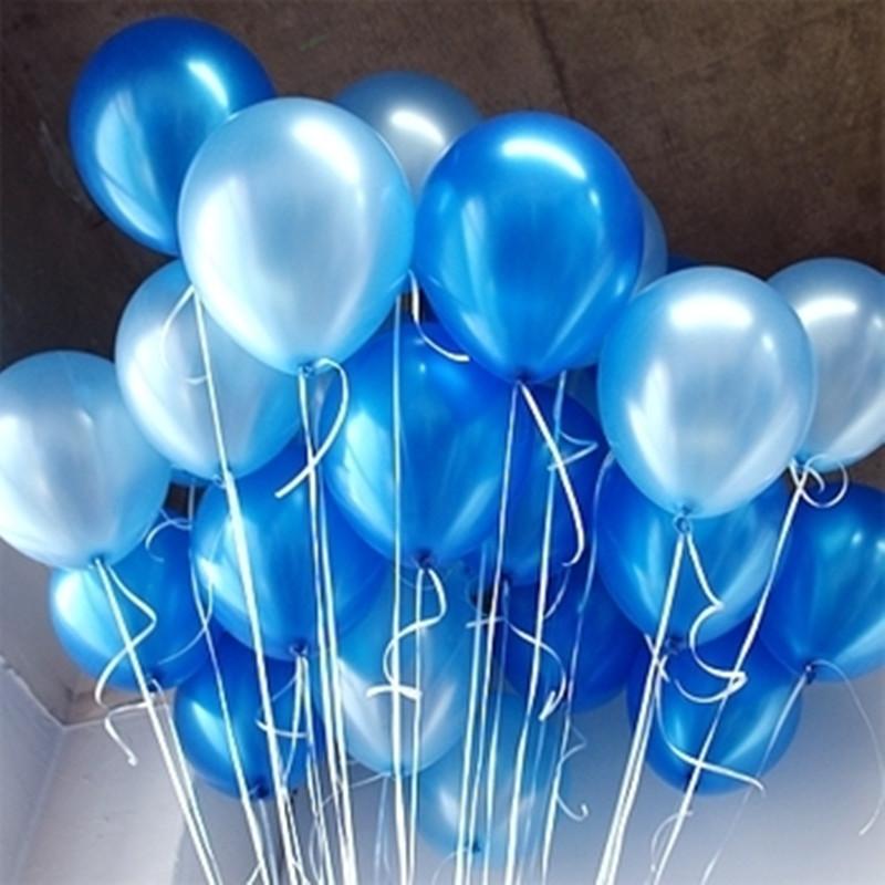 珠光加厚深蓝色浅蓝色天蓝气球装饰 结婚庆用品生日节日派对拍照