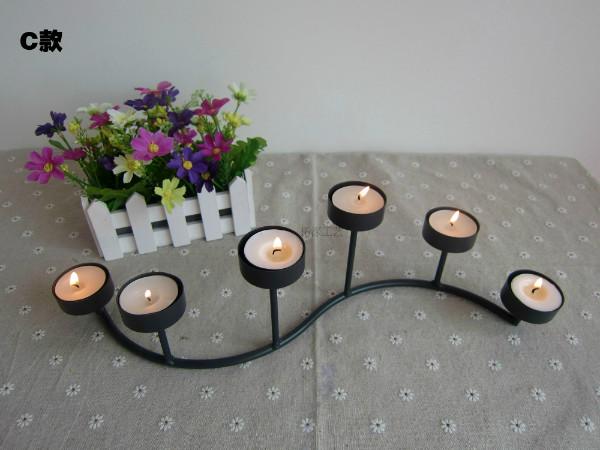 欧式蜡烛台 烛光晚餐 铁艺摆件圣诞 软装饰品 情人节送蜡烛包邮