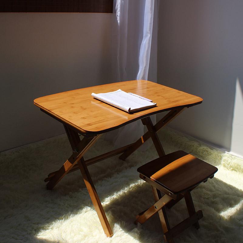 送桌垫儿童可升降书桌小学生桌楠竹学习桌可折叠桌子家用实木写字