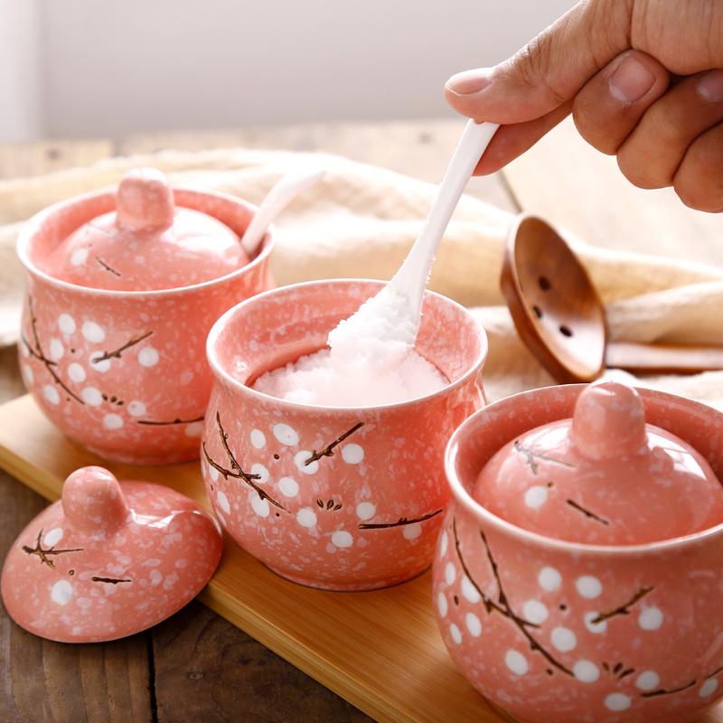 调味罐陶瓷套装日式和风四季创意厨房用品家用油盐罐子调料调味盒