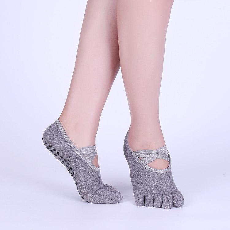 Ночные йоги нескользящие специальность женский чистый хлопок Пот-впитывающие летом тонкие ножки пять пальцев носки Йога