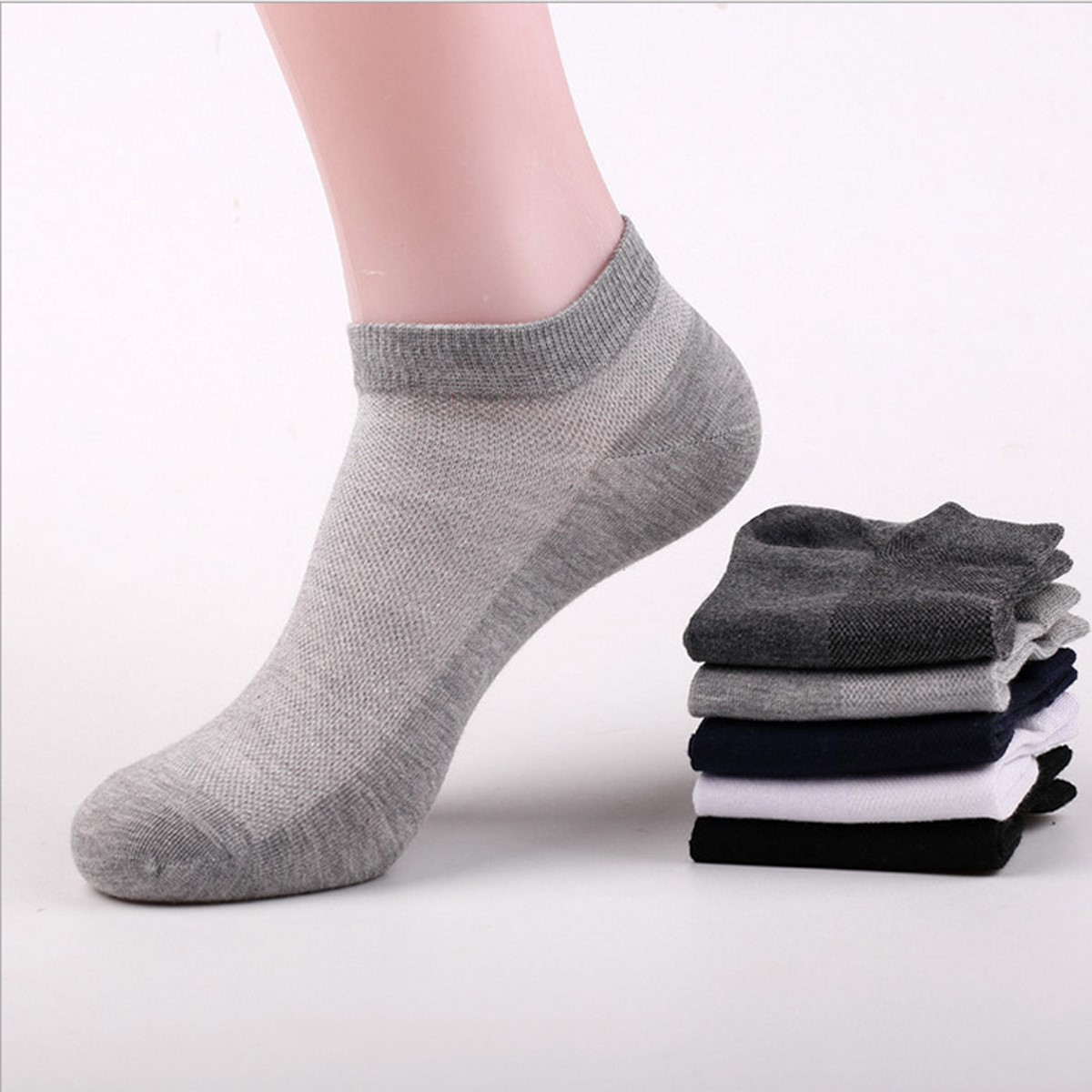 男款船袜青少年浅口低帮网眼夏天短袜男孩大童男女袜袜子夏季超薄