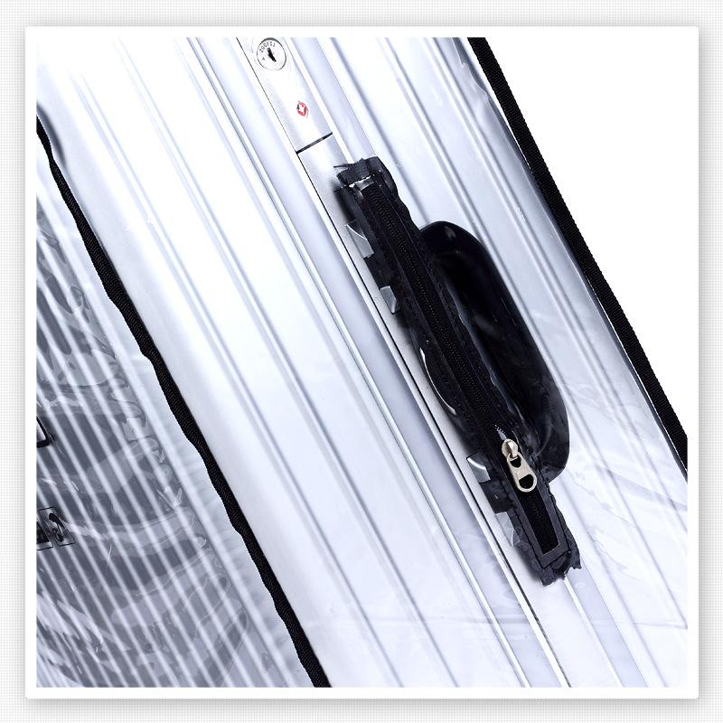 防水防雨刮行李箱保护套拉杆箱旅行箱套加厚耐磨耐磨全透明防尘罩