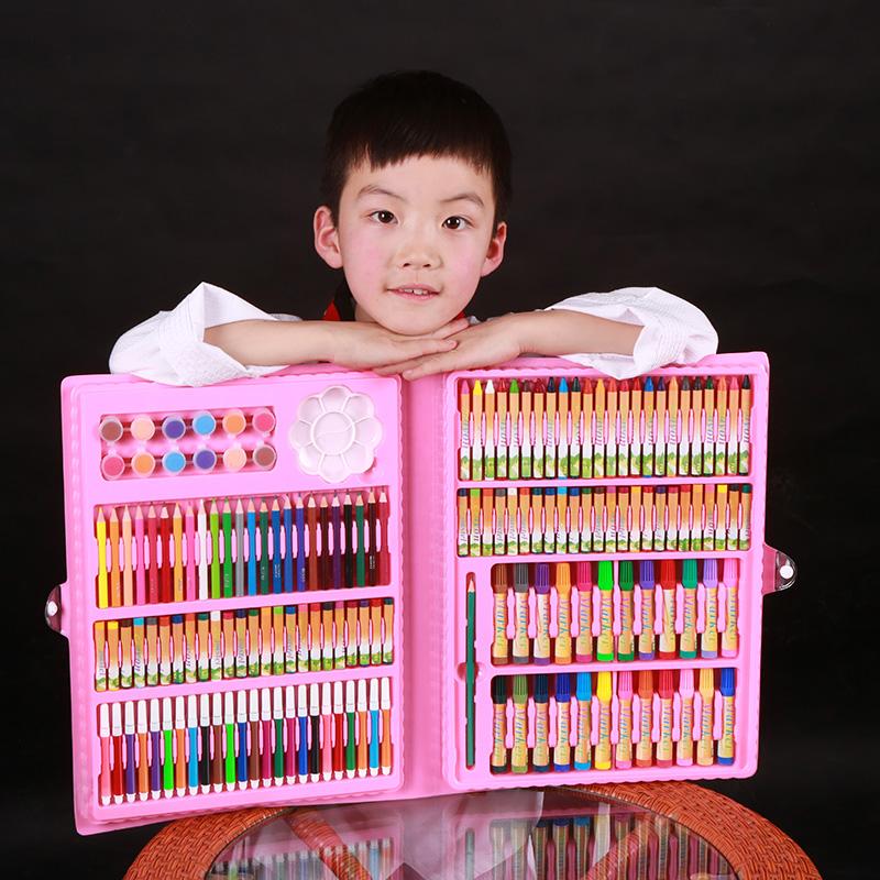 福荣轩儿童画笔套装儿童节水彩笔套装169型蜡笔画画生日礼物礼盒
