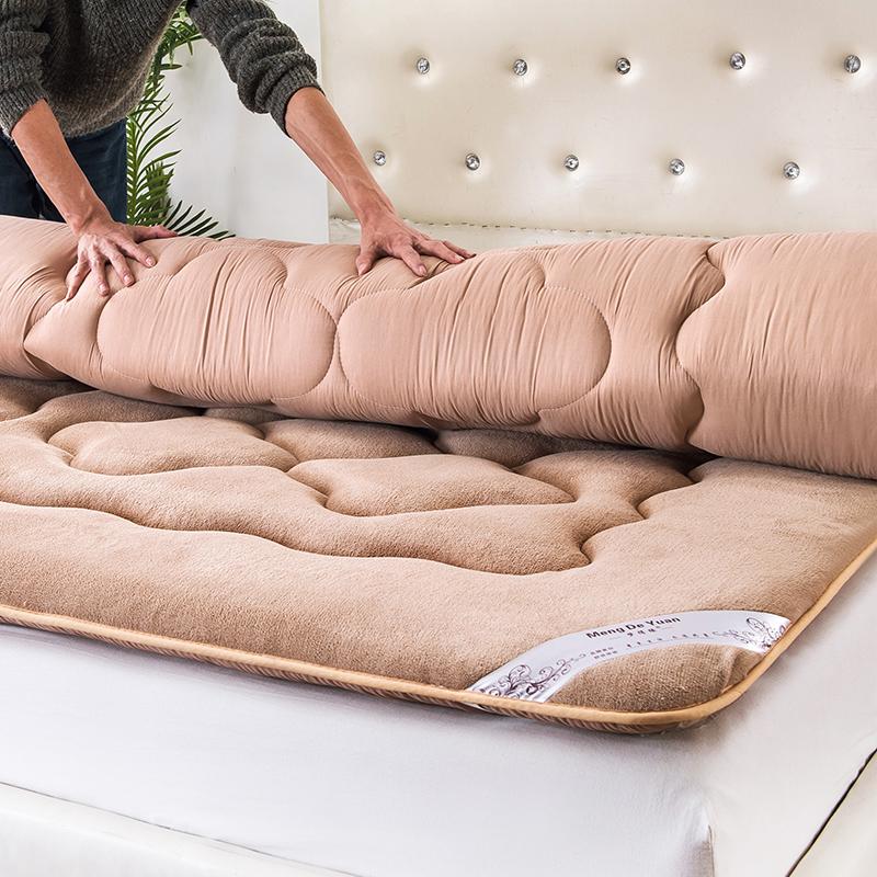 Утепленный [法莱绒床垫床褥榻榻米垫被学生宿舍] один [人双人1.5m 1.8米床褥子]
