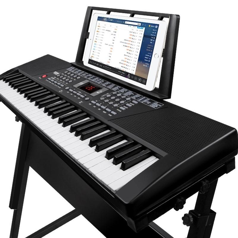 专业通用成人儿童电子琴61键仿钢琴标准键 初学者教学习练习考级