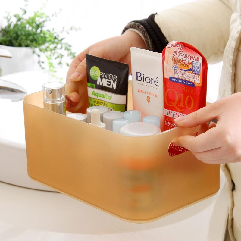 化妆品收纳盒放洗漱台桌面的盒子卫生间架子桌子上