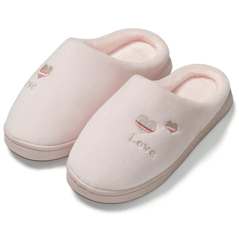 棉拖鞋女秋冬家居室内家用男棉鞋情侣可爱毛绒保暖拖鞋包跟厚底