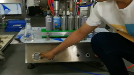 High Efficiency Fully Automatic Aerosol Can Filling Line Machine Supply