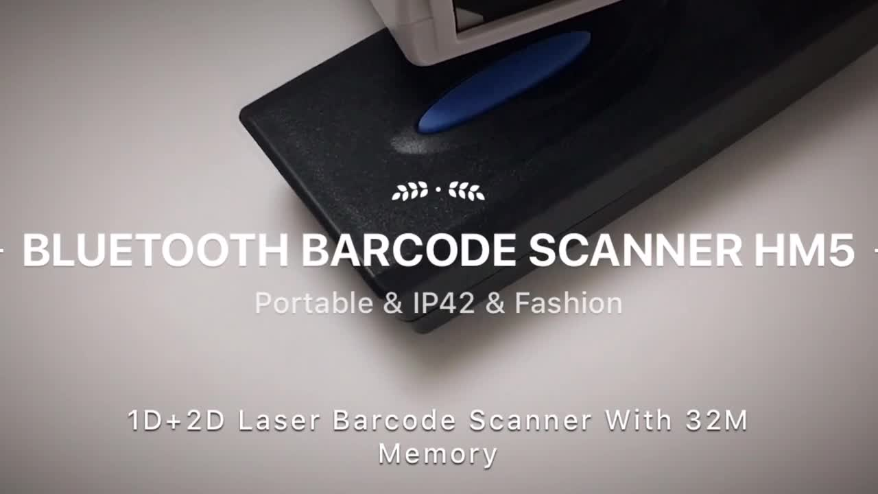 Mini 1D CCD IP42 Bluetooth Portable Bluetooth Barcode Scanner with 16M Memory HM5-C-B