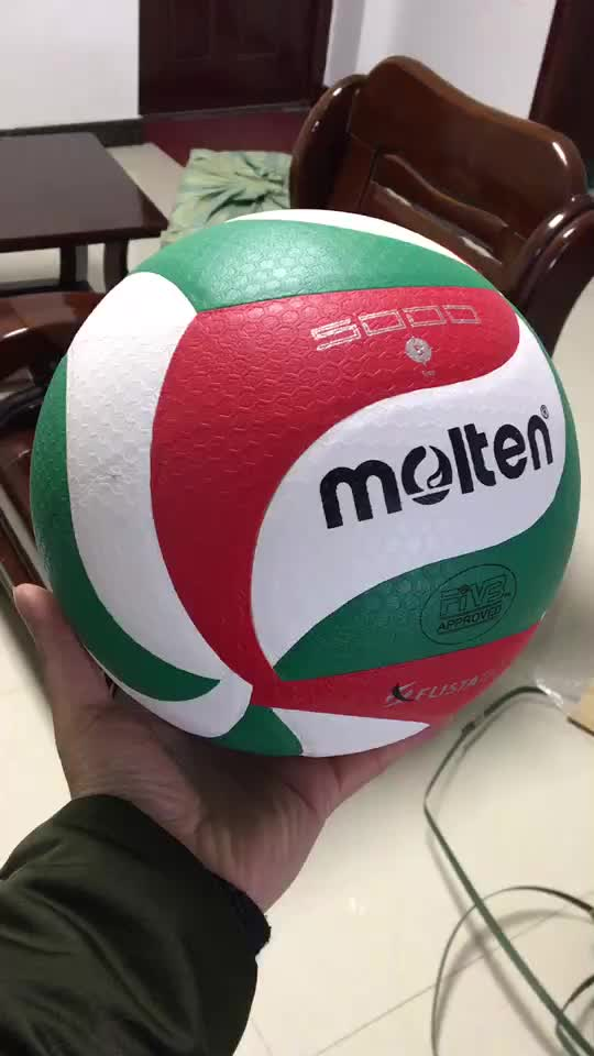 pallavolo voleibol Wholesale custom printed Molten v5m 5000 Soft Touch  Micro fiber PU match Volleyball Ball f51cefe8585bb
