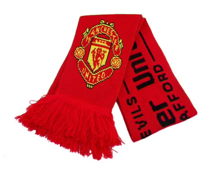 Custom Wholesale Quality Material Knitted Football Fan Winter Scarf