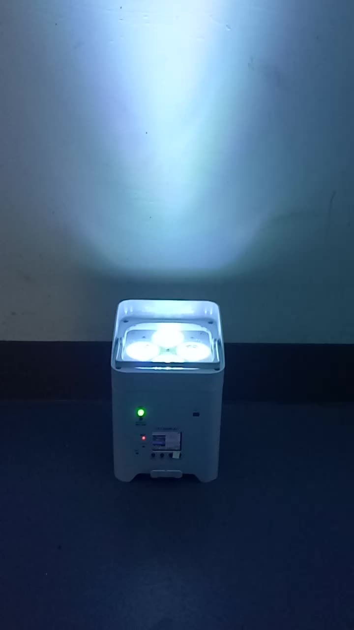 New stage equipment battery wireless powered par light 6*18w led up lighting for sale