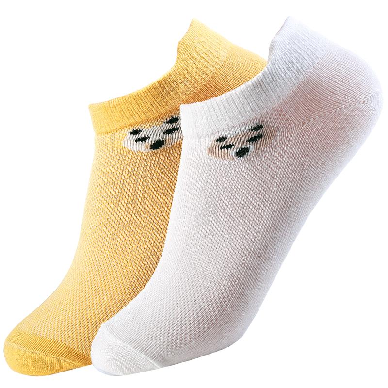 【浪莎】6双男女儿童网眼袜子纯棉船袜