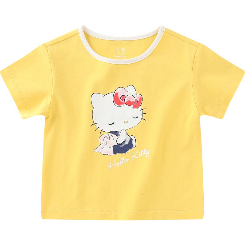 hellokitty女童短袖t恤童装打底衫质量如何