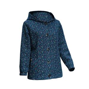 中老年女装加大码中长款春秋夹克衫