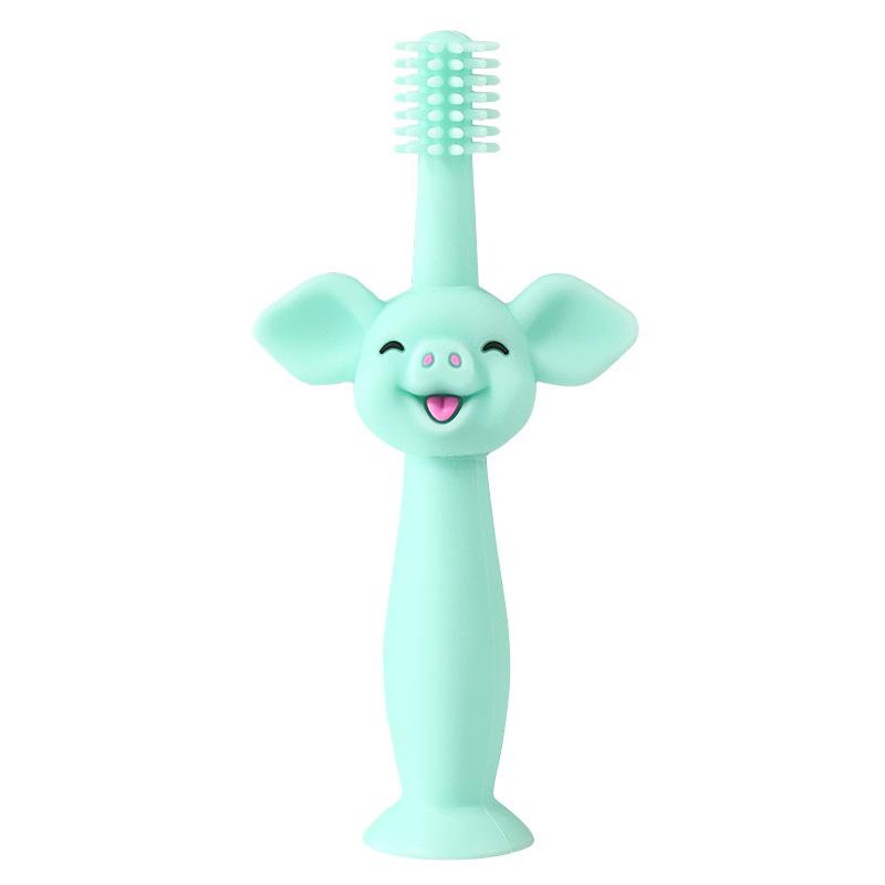 宝宝硅胶软毛一岁半两1-2-3牙刷