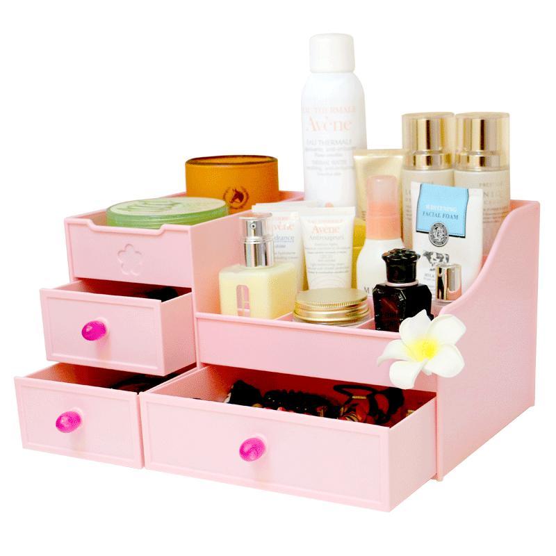 kaman抽屉式化妆品收纳盒大号整理护肤桌面梳妆台塑料口红置物架