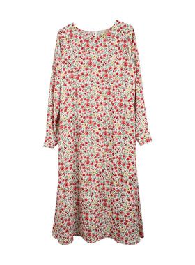 最小的海韩版春季圆领气质连衣裙