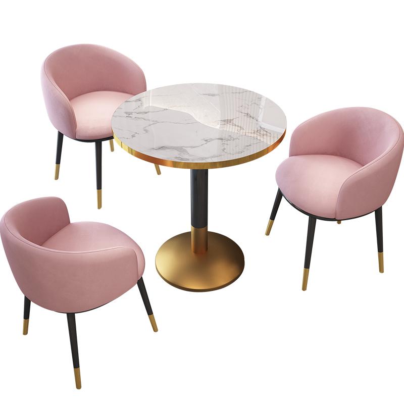 轻奢小圆桌组合网红ins洽谈桌椅子好用吗