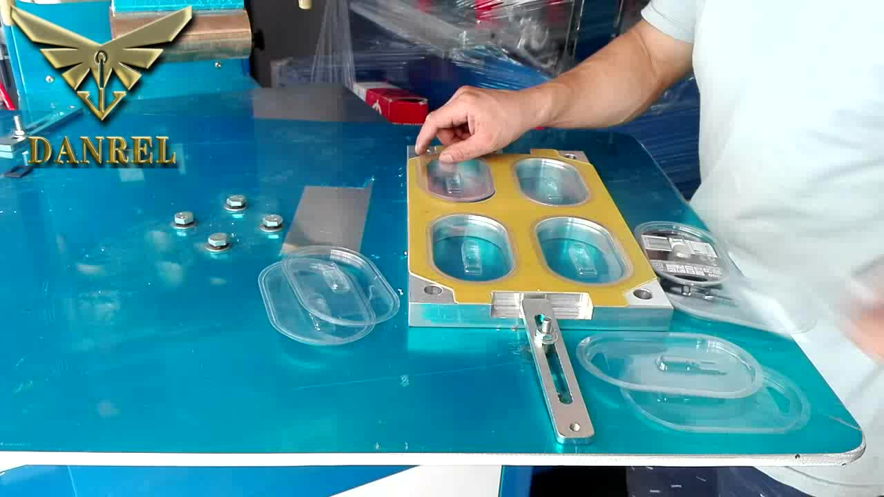 Price of Clamshell Sealing Machine Semiautomatic Rotary Table High Frequency PVC Blister Packing Machine